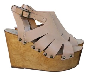 Madison Harding Nude Wedges