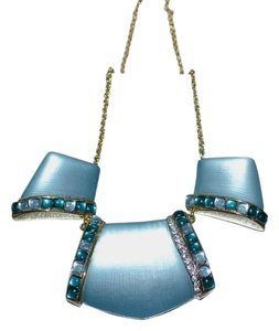 Alexis Bittar Alexis Bittar Three-part Cabochon Lucite Bib Necklace ~ Montana Blue/Green