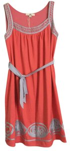 Ya Los Angeles short dress Coral/Grey Sheath Flowy on Tradesy