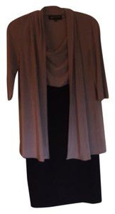Jones New York short dress Black and taupe on Tradesy