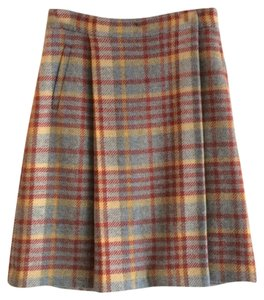 Charles Nolan Skirt grey, rust and yellow