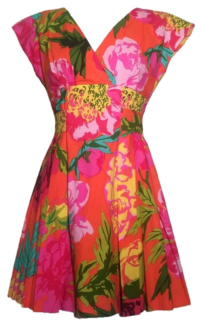 Moschino Couture! short dress Pink Floral on Tradesy