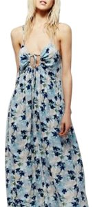 Ivory and blue Maxi Dress by Free People