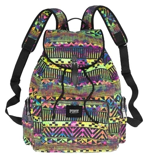 Preload https://img-static.tradesy.com/item/1737549/pink-victoria-s-secret-neon-aztec-print-full-size-multi-color-canvas-backpack-0-0-540-540.jpg