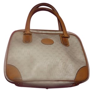 Gucci Doctor's Classic Roomy Practical Satchel in ivory and camel small G logo