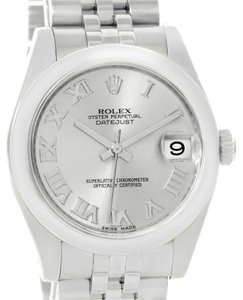 Rolex Rolex Midsize Datejust Silver Roman Dial Steel Watch 178240 Box Papers
