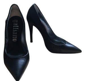 John Galliano Heels Logo Black Pumps