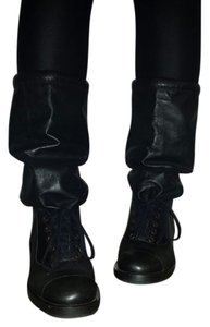 Chanel Leather Stylish black Boots