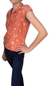 Marc Jacobs Top Red Floral and Striped