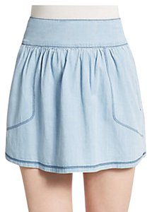 3X1 Mini Skirt Light Blue