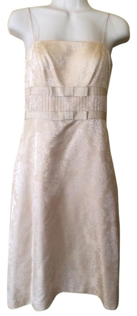 Ann Taylor Gold Short Formal Dress Size 0 (XS) Ann Taylor Gold Short Formal Dress Size 0 (XS) Image 1