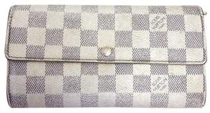 Louis Vuitton Louis Vuitton Damier Azur Beautiful Sarah Long Flap Wallet
