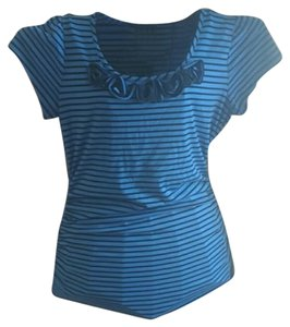 Maurices Floral Flowers Stripes T Shirt