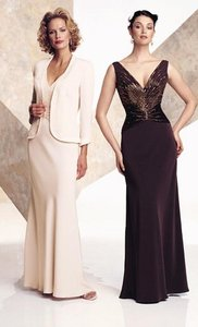 Montage by Mon Cheri Cocoa Brown Silky Crepe & Satin 26904 Traditional Bridesmaid/Mob Dress Size 18 (XL, Plus 0x)