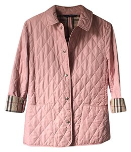 Burberry London Quilted Classic Designer Pink Jacket