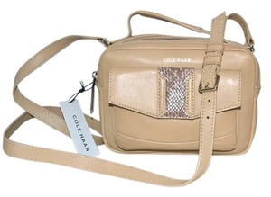 Cole Haan Savannah Blush Leather Leather Snakeskin Cross Body Bag