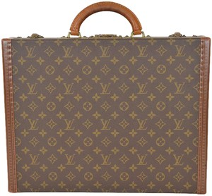 Louis Vuitton Trunk Briefcase Luggage Travel Case Brown Travel Bag