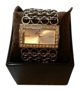 Marciano Marciano Square Diamond Faced Chain Bracelet Watch