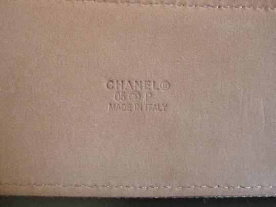 Chanel NWT AUTH.85CM CHANELGOLD METALLIC LEATHER BELT SILVER BUCKLE