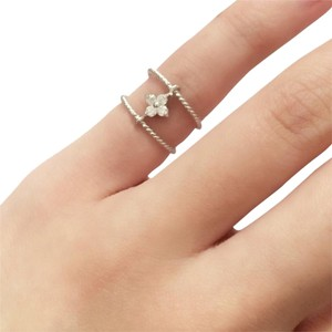 Elliot Francis rhodium sterling midi ring