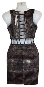 Mustard Seed Cut-out Bodycon Snakeskin Sexy Nwt Dress