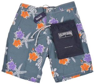 Vilebrequin Men's Board Board Shorts Gray