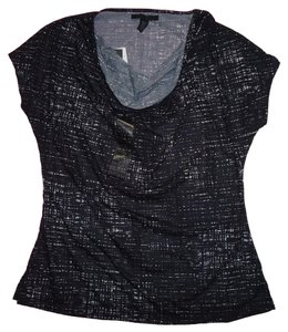 Kenneth Cole Shirt Women Size Medium Top Black