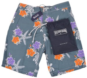 Vilebrequin Men's Board Board Shorts Grey
