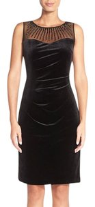 Ellen Tracy Beaded Sheer Yoke Dress