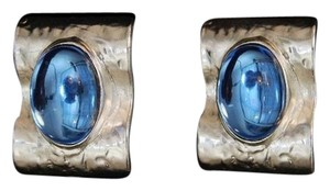 Other Sterling Silver Plated Retro Glamour Resin Raised Clip On Earrings