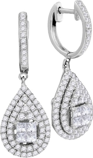 Other Luxury Designer 14k White Gold 1.18 Cttw Diamond Fashion Earrings By BrianGdesigns