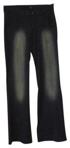 Just Cavalli Boot Cut Pants black stripe