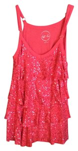 INC International Concepts Sequin Top Coral