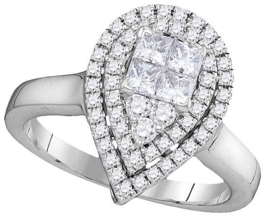 Other Ladies Luxury Designer 14k White Gold 0.78 Cttw Diamond Fashion Ring by BrianGdesigns