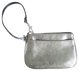 Coach Pewter Shiny Sparkly Wristlet in Silver/Pewter