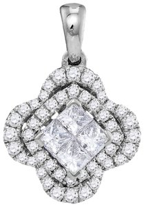 Other Luxury Designer 14k White Gold 0.96 Cttw Diamond Fashion Pendant By BrianGdesigns