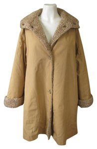 Faux Fur Pile Lining Trench Coat