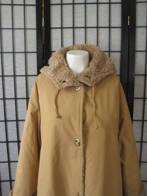 Other Faux Fur Pile Lining American Designer Bonnie Cashin Russ Taylor Mod With Hood Swing Trapeze Duffle Style Trench Coat