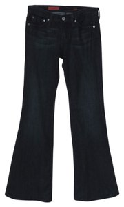 AG Adriano Goldschmied The Bell Dark Wash Flare Leg Jeans-Dark Rinse