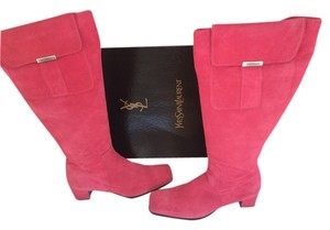 Yves Saint Laurent Bright Pink Boots