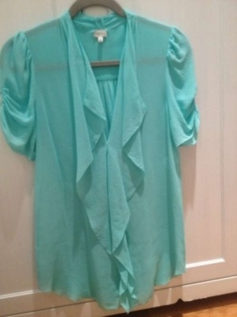 Aritzia Silk Tinsley Top Aqua