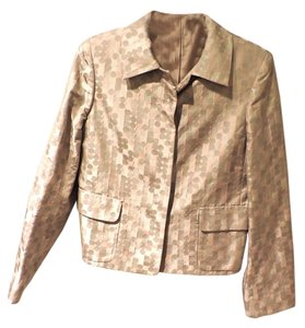 Ellen Tracy Business Jacket Evening Jacket Top Pale Pink, Metallic and Taupe