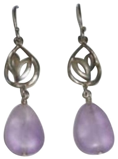 Preload https://item5.tradesy.com/images/silpada-silver-and-frosted-amethyst-w2169-earrings-1738369-0-0.jpg?width=440&height=440