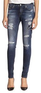 AG Adriano Goldschmied Digital Luxe Skinny Jeans-Distressed