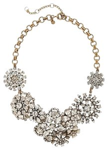 J.Crew Crystal Floral Statement Necklace