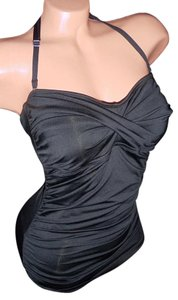 Jantzen jantzen black 8 swimsuit dress swimdress rockabilly pinup retro gathered halter