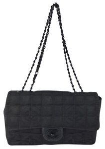 Chanel Quilted Canvas Shoulder Bag