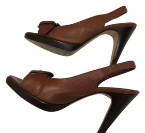 Banana Republic Heels Summer Leather Brown Pumps