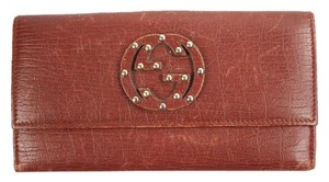 Gucci Red Studded Wallet GGTY60