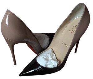 Christian Louboutin So Kate Beige Heels Black/nude Pumps
